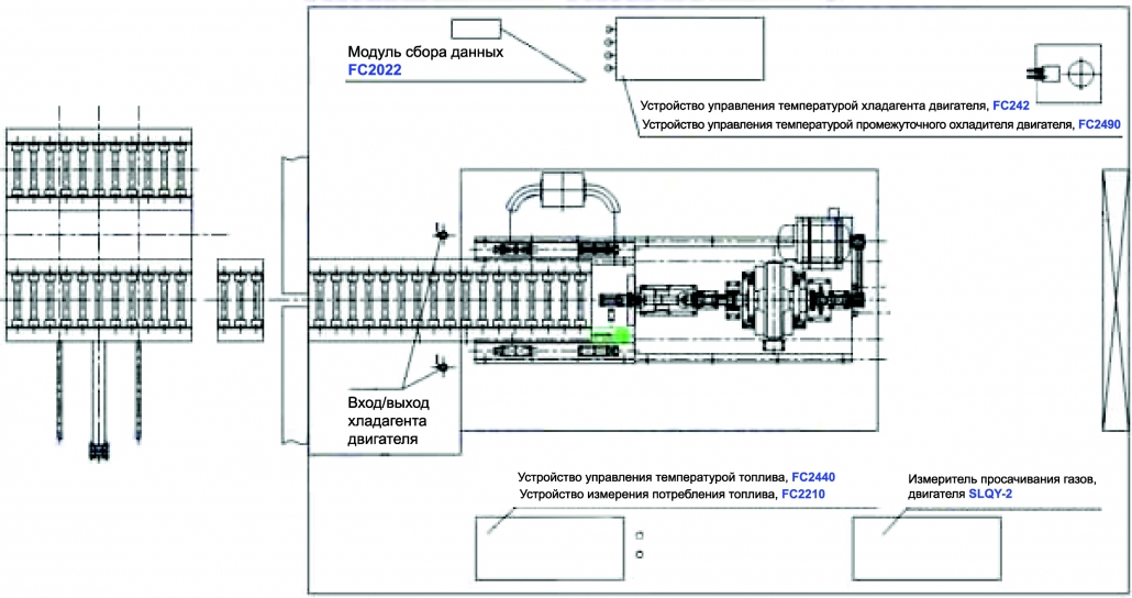 Engine Stand for Assembly schematic diagram B_русс